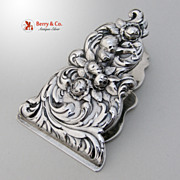 Ornate Figural Paper Clip Gorham Sterling Silver 1890
