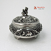 Indian Figural Dresser Box Sterling Silver 1900 No Monogram
