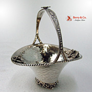 Grape Basket Hand Made Greek Sterling Silver 1960 No Monogram