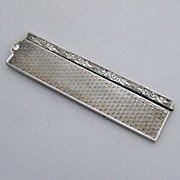 Austrian Silver Comb and Case 1930 Maker FZ