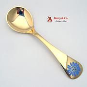 Georg Jensen Annual Spoons Gilt Sterling Silver
