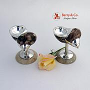 Open Salts Silver Sterling Silver Mounted Sea Shells
