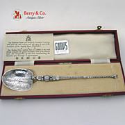 Anointing Spoon Sterling Silver 1952 Boxed