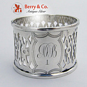 Open Work Napkin Ring Sterling Silver 1909