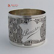 Napkin Ring Louise Sterling Silver 1924