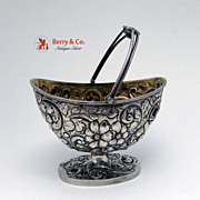 Repousse Sugar Basket Sterling Silver Frank Smith 1890