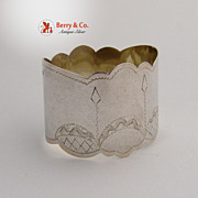 Russian Art Nouveau Napkin Ring 84 Standard Silver 1910