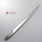 Meat Skewer Continental European 900 SIlver 1818 M Mark