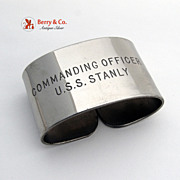 USS Stanly Napkin Ring Commanding Officer DD-478