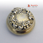 Repousse Pill Box Sterling Silver Vermeil La Pierre 1900