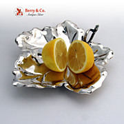 Figural Grape Leaf Serving Dish 800 Solid Silver