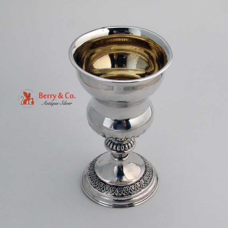 Vintage Goblet Continental Solid Silver