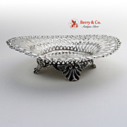Louis XV Footed Bon Bon Bowl Whiting Sterling Silver Monogram P