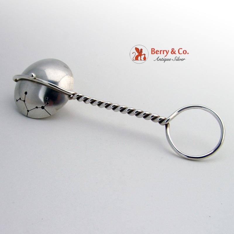 Baby Rattle Spinning Sagittarius Dutch Sterling Silver
