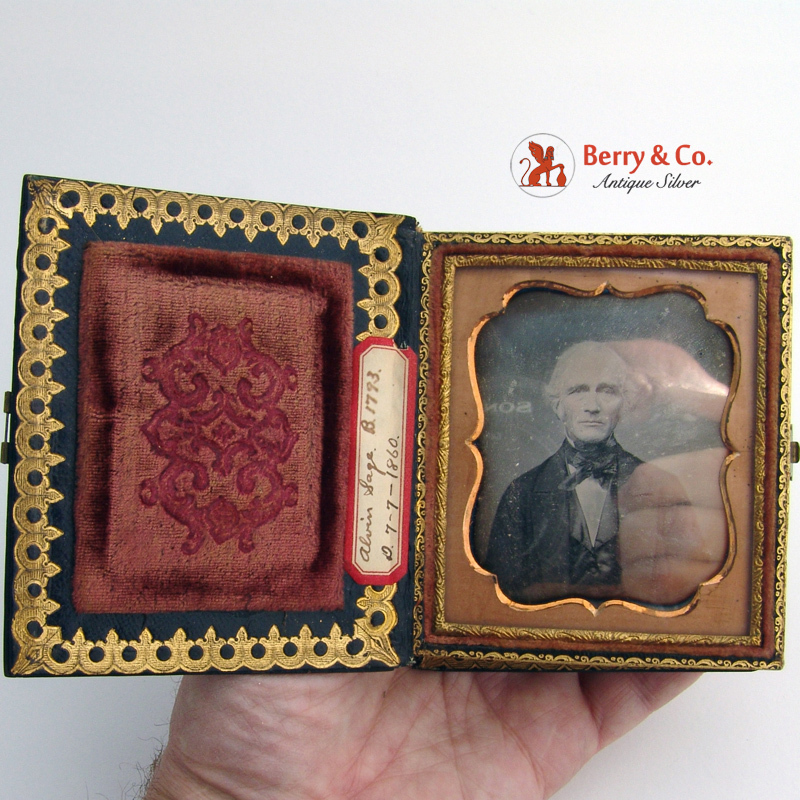 Daguerreotypes Cased Pair Identified Subjects 1855