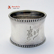 Beaded Napkin Ring Gorham Sterling Silver 1900