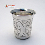 Russian 84 Standard Silver Large Vodka Cup 1900