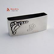 Napkin Ring Applied Blossom Sterling Silver Webster 1940 Joe
