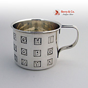 Alphabet Baby Cup Sterling Silver