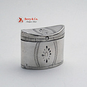 Dutch Peppermint Box 1815 Hat Box Form 833 Standard Silver