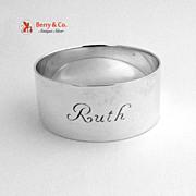 Napkin Ring Ruth Tiffany & Company 1970 Sterling Silver