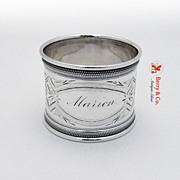 Coin Silver Napkin Ring Gorham 1860