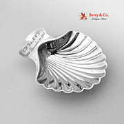 75th Birthday Shell Dish Tiffany Sterling Silver December 261935