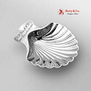 75th Birthday Shell Dish Tiffany Sterling Silver December 261935