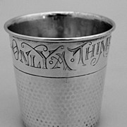 Shot Cup Only A Thimbleful Hammered Sterling Silver 1930