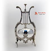 Call Bell Lyre Form Mechanical WMF German Silverplate 1890