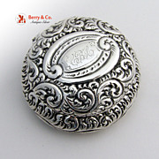 Ornate Sterling Silver Pill Box Gorham 1900
