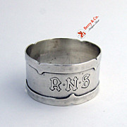 Dolores Napkin Ring Sterling Silver Shreve and Company San Francisco
