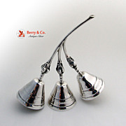 Triple Table or Call Bell Blossom Sterling Silver Ramirez 1975