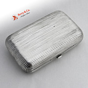 Antique Russian 84 Silver Cigarette Case 1881