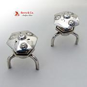 Toro Shakers Japanese Lantern Form 1940 Sterling Silver
