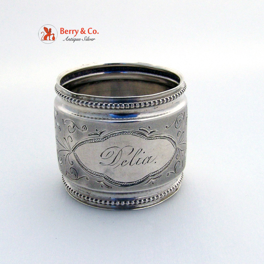 Antique Coin Silver Napkin Ring 1860s