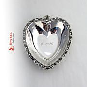 Vintage Heart Bowl Sterling Silver Fisher