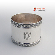Coin Silver Napkin Ring 1890s