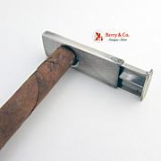 Vintage Sterling Silver Cigar Cutter 1930s
