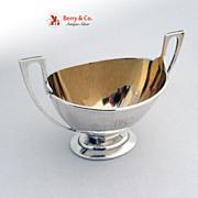 Sugar Bowl Classical Gorham Coin Silver 1865 AMcK