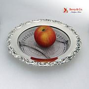 Sterling Cut Glass Divided Serving Bowl Shell Scroll International 1940