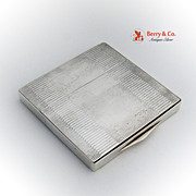 Art Deco Cigarette Case 950 Sterling Silver
