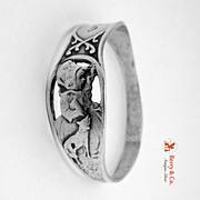 Little Red Riding Hood Napkin Ring Webster Sterling Silver 1920 GAS