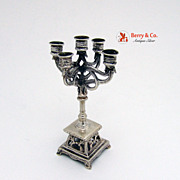 Miniature Candelabrum Dutch 833 Silver 1900