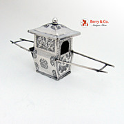 Sedan Chair Chinese Export Silver 1900