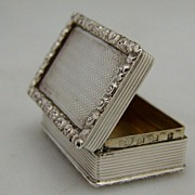 English Snuff Box 18th Century Reproduction London 1929 Sterling Silver