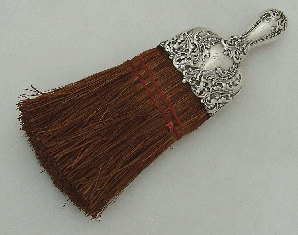 Scroll Foliate Floral Whisk Broom Alvin Sterling 1900 From