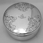 Bingham Family Crest Dresser Box 1835 Paris 950 Sterling Christ Is My Hope