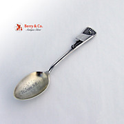 Lacrosse Souvenir Spoon Figural P W Ellis Sterling Silver 1900