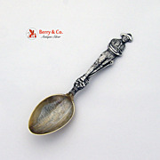 Miner Treadwell Alaska Souvenir Spoon Mayer Sterling Silver 1895